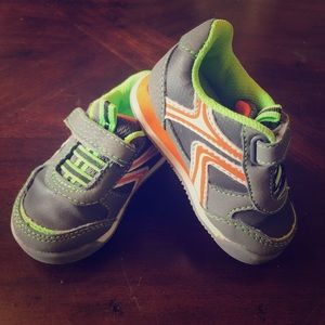 Boys Genuine Baby (OshKosh) Gray/Lime/Orange Shoes
